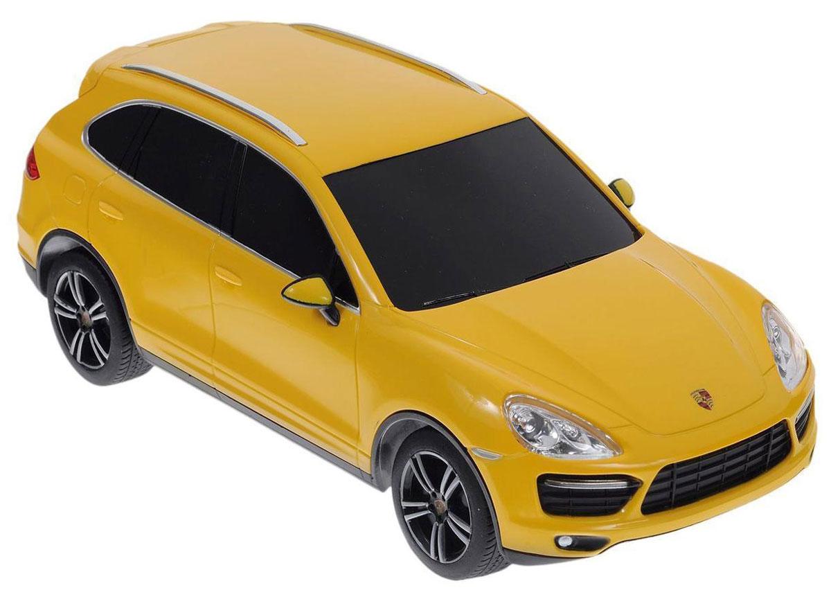 Rastar Радиоуправляемая модель Porsche Cayenne Turbo цвет желтый масштаб 1:24 gk gmc 866 2403