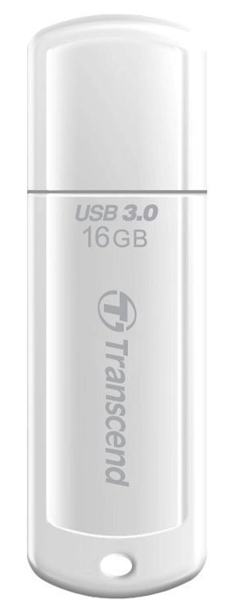 Transcend JetFlash 730 16GB, White USB-накопитель transcend jetflash 730 8gb white usb накопитель
