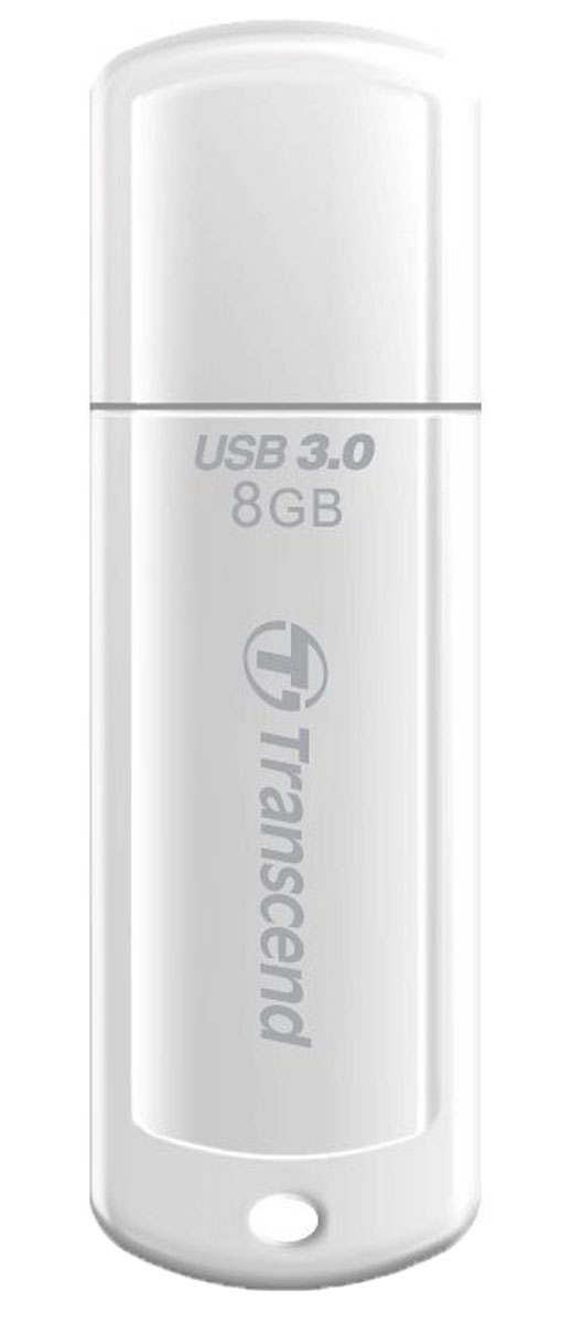 Transcend JetFlash 730 8GB, White USB-накопитель transcend jetflash 730 8gb white usb накопитель