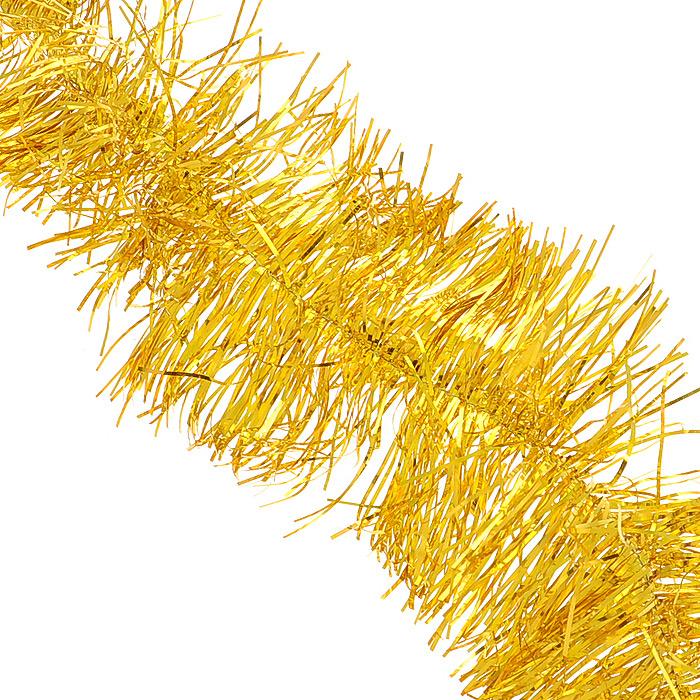 """Мишура новогодняя Феникс-презент """"Magic Time"""", цвет: золотистый, диаметр 12 см, длина 200 см. 34880"""