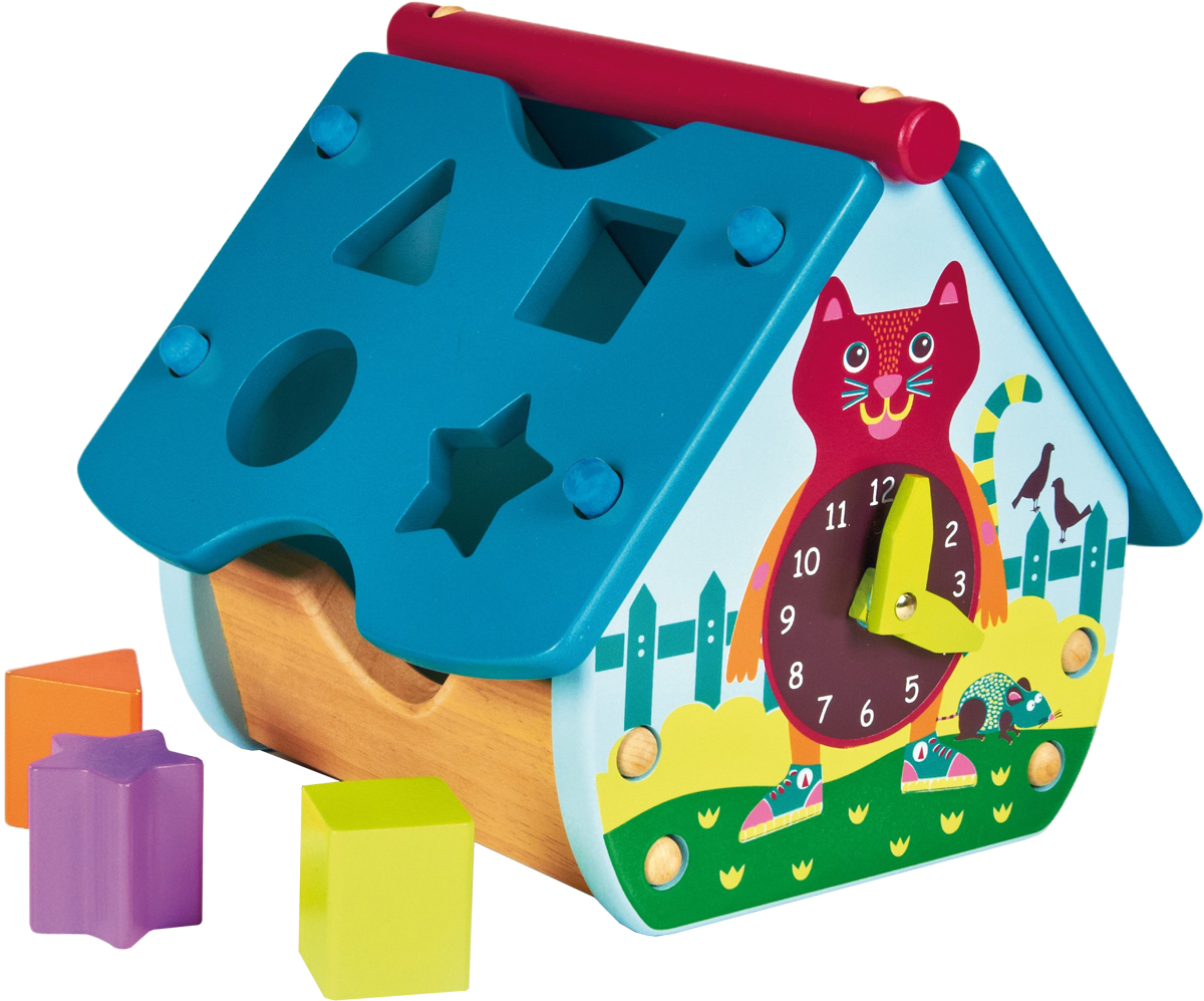 """OOPS Игрушка-сортер """"Домик с часами. Кошка"""""""
