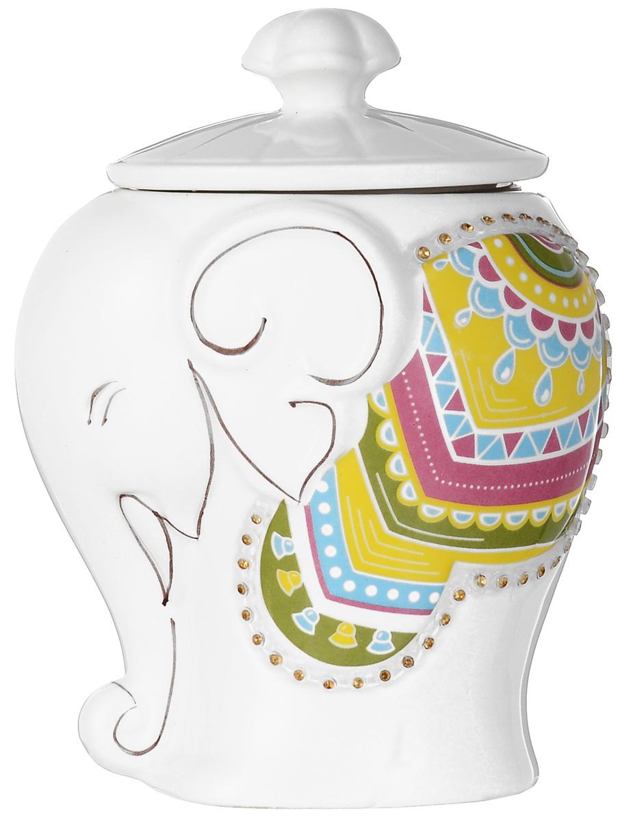Hilltop Подарок Цейлона черный листовой чай в чайнице Слоник, 50 г hilltop чай с чабрецом черный листовой чай в чайнице цветочный орнамент 100 г