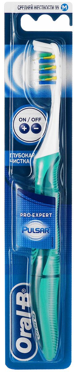 Oral-B Зубная щетка электрическая Pulsar Expert, средняя жесткость, цвет: в ассортименте eq maxon зубная щетка c наночастицами серебра сверхтонкой двойной щетиной средняя жесткость цвет цвет оранжевый