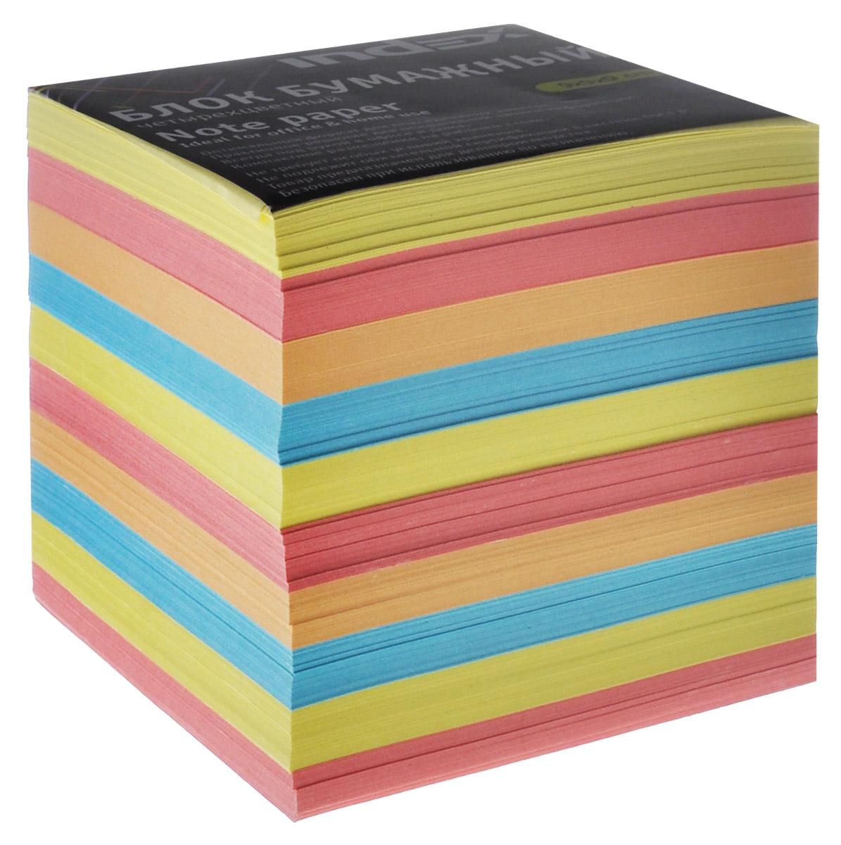 Index Блок для записей многоцветный, цвет: желтый, розовый, голубой цена