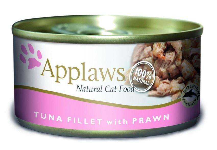 Консервы Applaws, для кошек, с филе тунца и креветками, 70 г консервы applaws для кошек с филе тунца и креветками 70 г