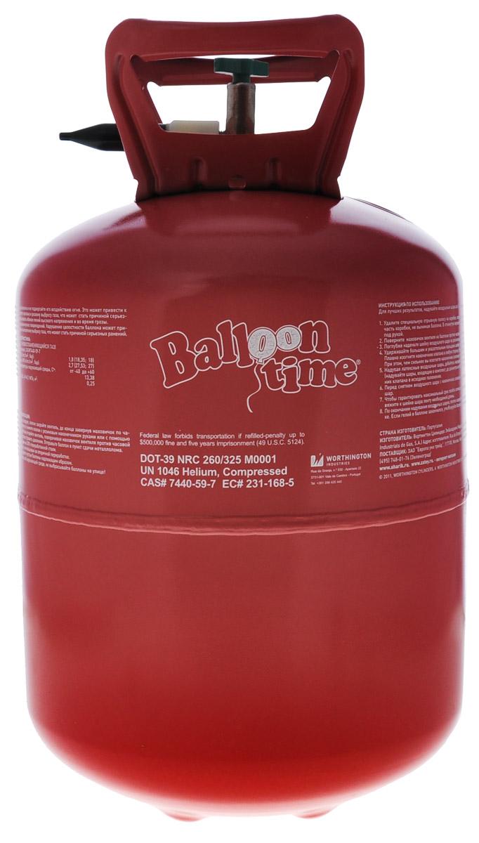 Веселая затея Гелий в портативном баллоне цвет красный баллон с гелием ярко вверх с набором для праздника поздравляю на 50 шариков