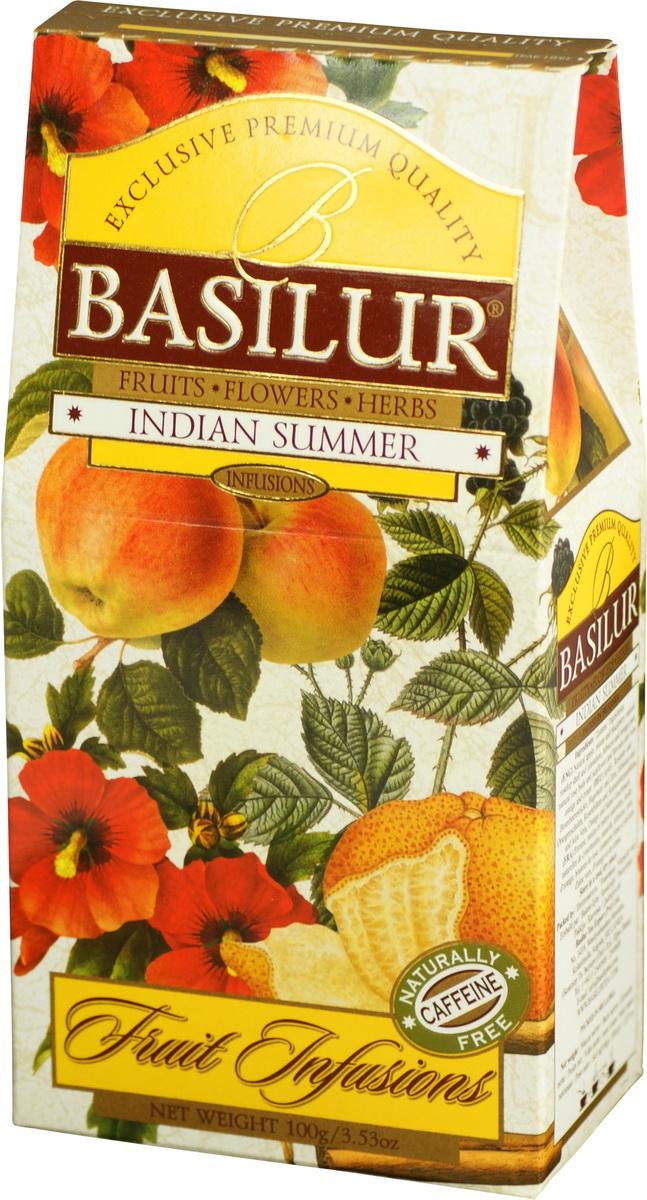 Basilur Indian Summer фруктовый листовой чай, 100 г basilur frosty afternoon черный листовой чай 100 г жестяная банка
