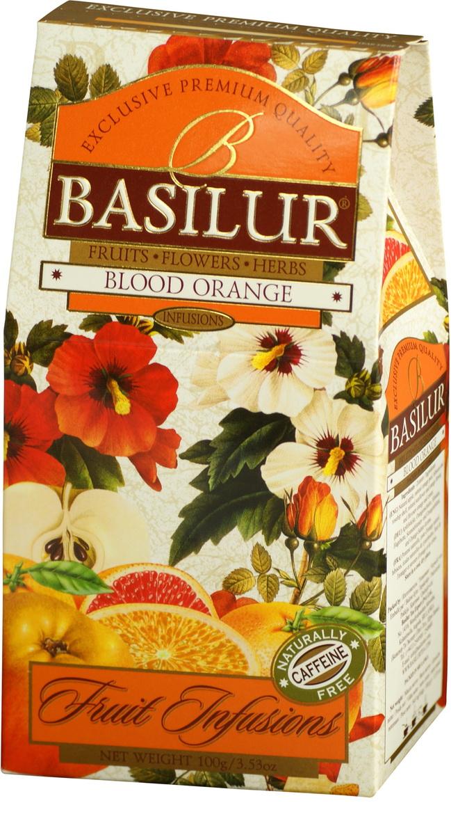 Basilur Blood Orange фруктовый листовой чай, 100 г basilur frosty afternoon черный листовой чай 100 г жестяная банка