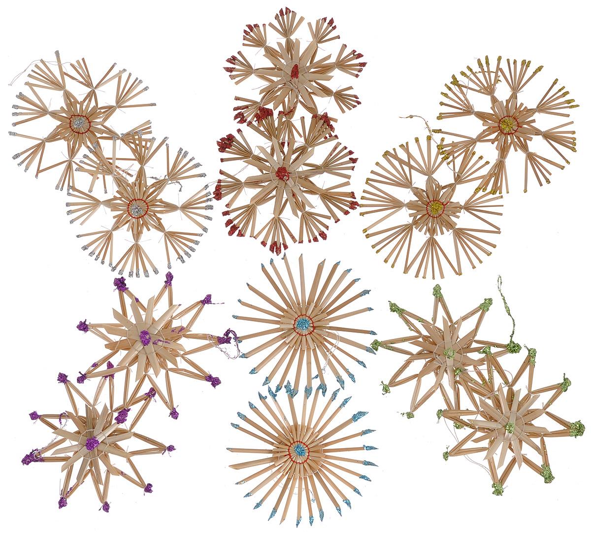 Набор новогодних подвесных украшений Феникс-презент Радуга, 12 шт набор новогодних подвесных украшений феникс презент ассорти цвет красный диаметр 6 см 6 шт