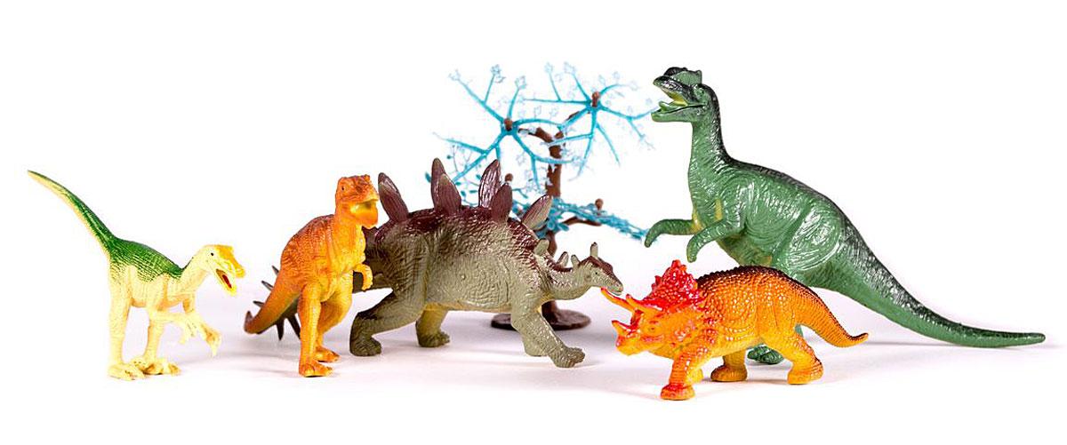 Megasaurs Набор фигурок Динозавры цвет желтый коричневый серый 5 шт игровые фигурки happy kin набор динозавров 41093