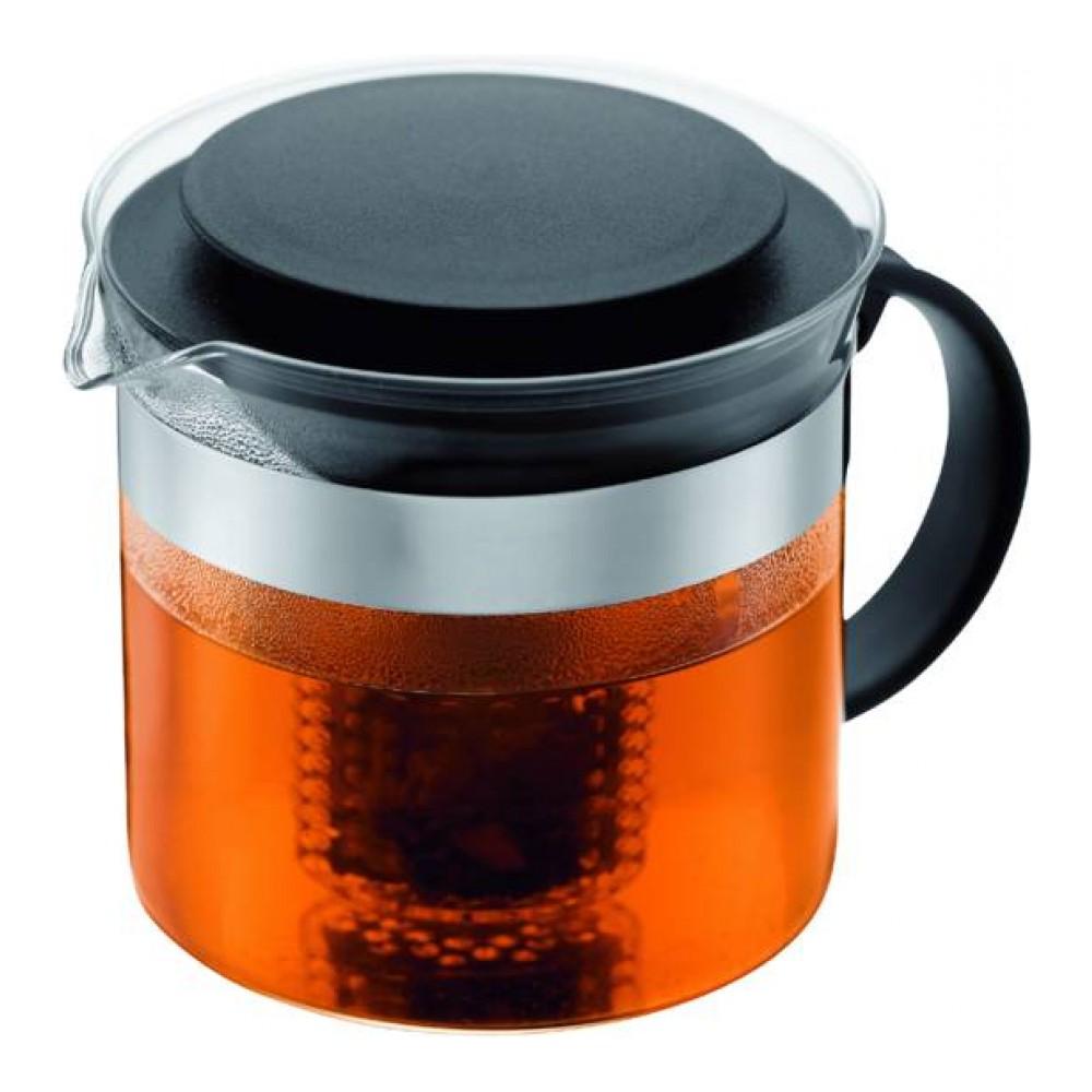 Чайник заварочный Bodum Bistro, с фильтром, 1 л чайник заварочный bodum assam с фильтром 1 л
