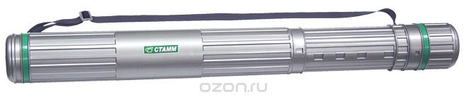 Тубус телескопический  Стамм , на ремне, цвет: серый, зеленый, 9 cм
