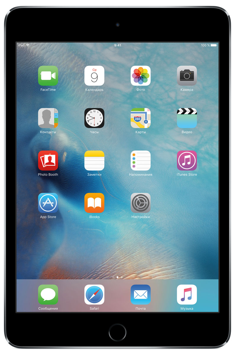 Планшет Apple iPad mini 4 Wi-Fi (2015), 128 ГБ, серый космос