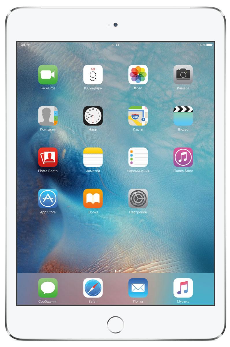 Планшет Apple iPad mini 4 Wi-Fi + Cellular (2015), 128 ГБ, серебристый