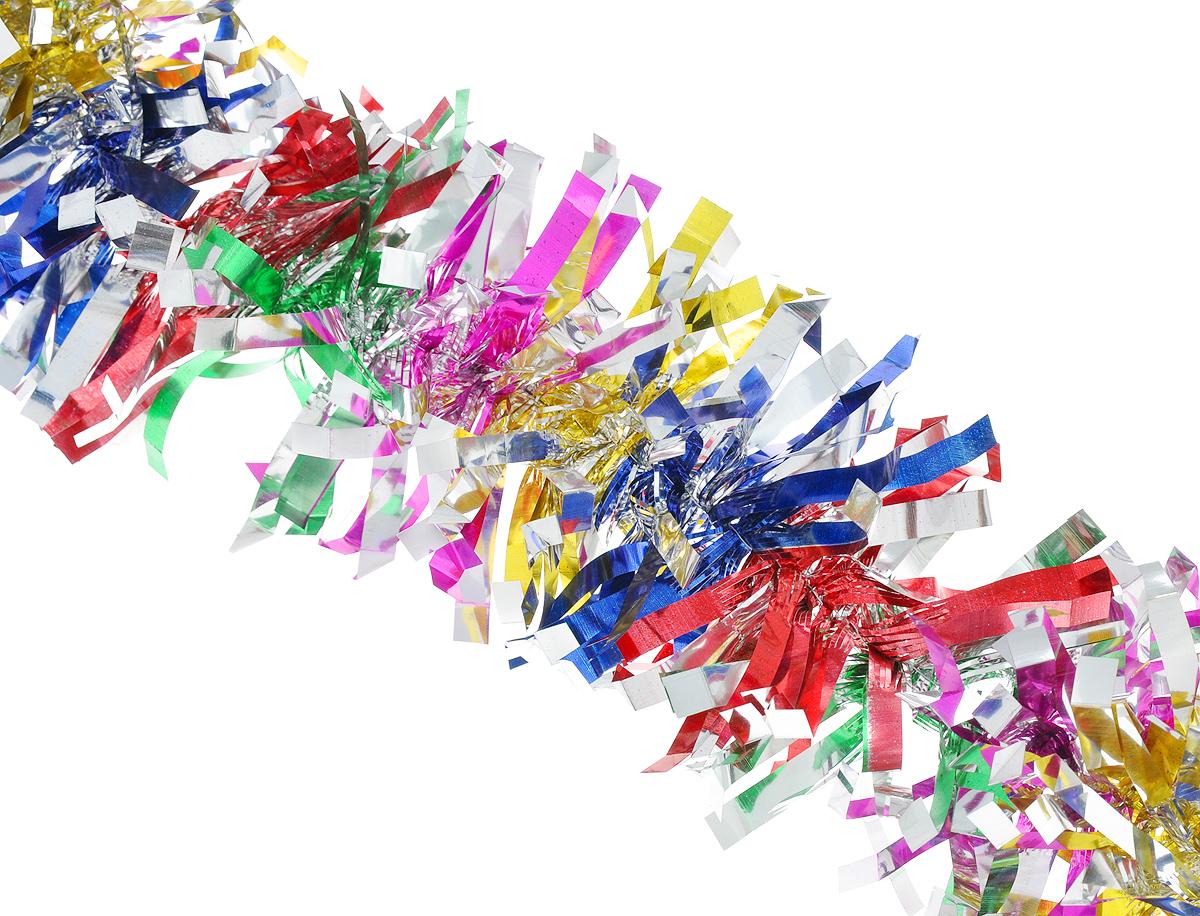 """Мишура новогодняя Феникс-презент """"Magic Time"""", цвет: красный, синий, зеленый, диаметр 9 см, длина 200 см. 38190"""