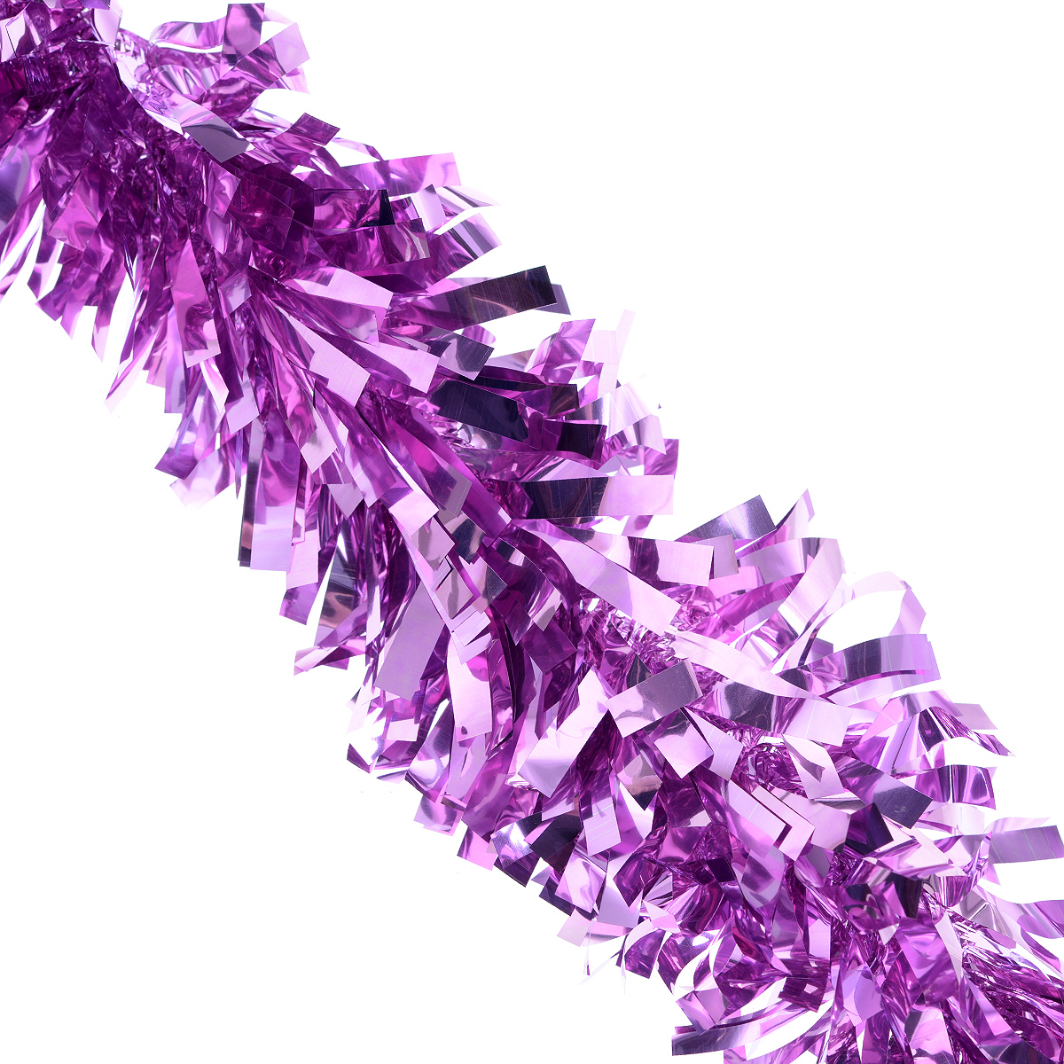 """Мишура новогодняя Феникс-презент """"Magic Time"""", цвет: сиренево-розовый, диаметр 9 см, длина 200 см. 38188"""