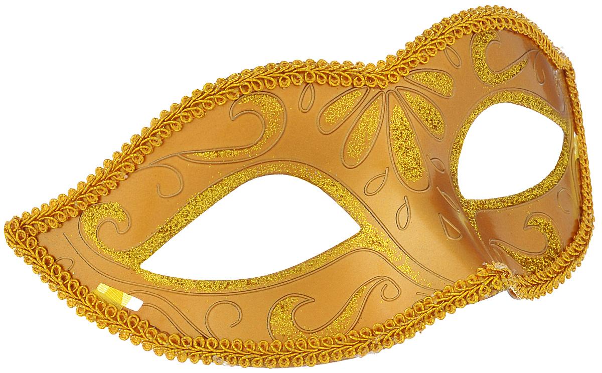 Маска карнавальная Феникс-презент Золото, цвет: золотистый