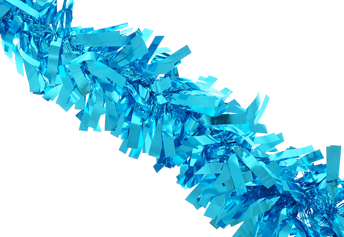 """Мишура новогодняя Феникс-презент """"Magic Time"""", цвет: бирюзовый, диаметр 9 см, длина 200 см. 38186"""