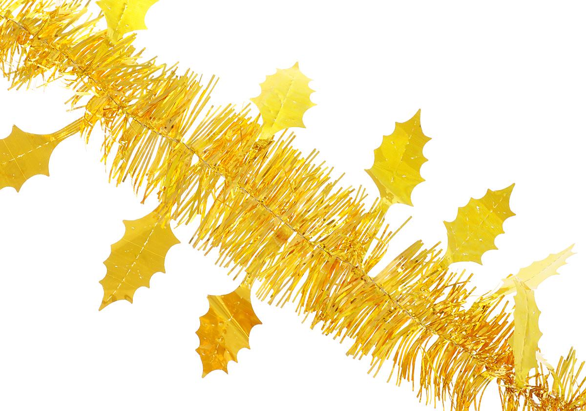 """Мишура новогодняя Феникс-презент """"Magic Time"""", цвет: золотистый, длина 200 см. 34902"""