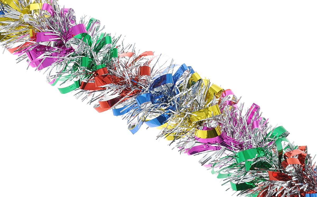 """Мишура новогодняя Феникс-презент """"Magic Time"""", цвет: красный, синий, диаметр 8 см, длина 200 см. 38179"""