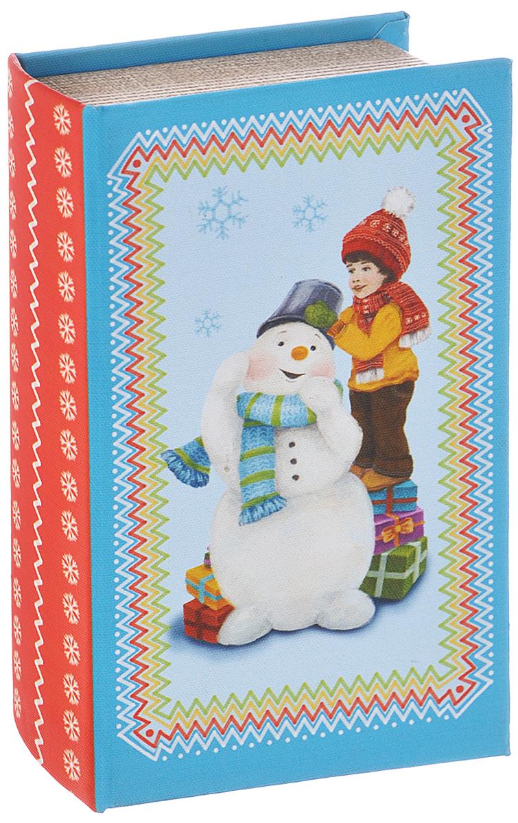 Шкатулка декоративная Феникс-презент Снеговик и мальчик, 17 см х 11 см х 5 см шкатулка декоративная феникс презент 8 х 7 х 6 см