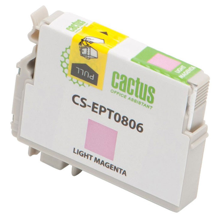 Cactus CS-EPT0806, Light Magenta струйный картридж для Epson Stylus Photo P50 картридж cactus cs ept0806 светло пурпурный