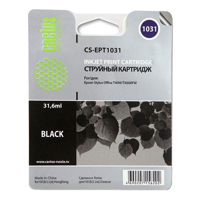 Картридж Cactus CS-EPT1031, черный, для струйного принтера цены