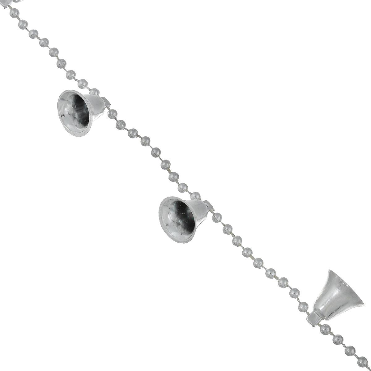 """Новогодняя гирлянда Феникс-презент """"Колокольчики"""", цвет: серебристый, 2,7 м"""