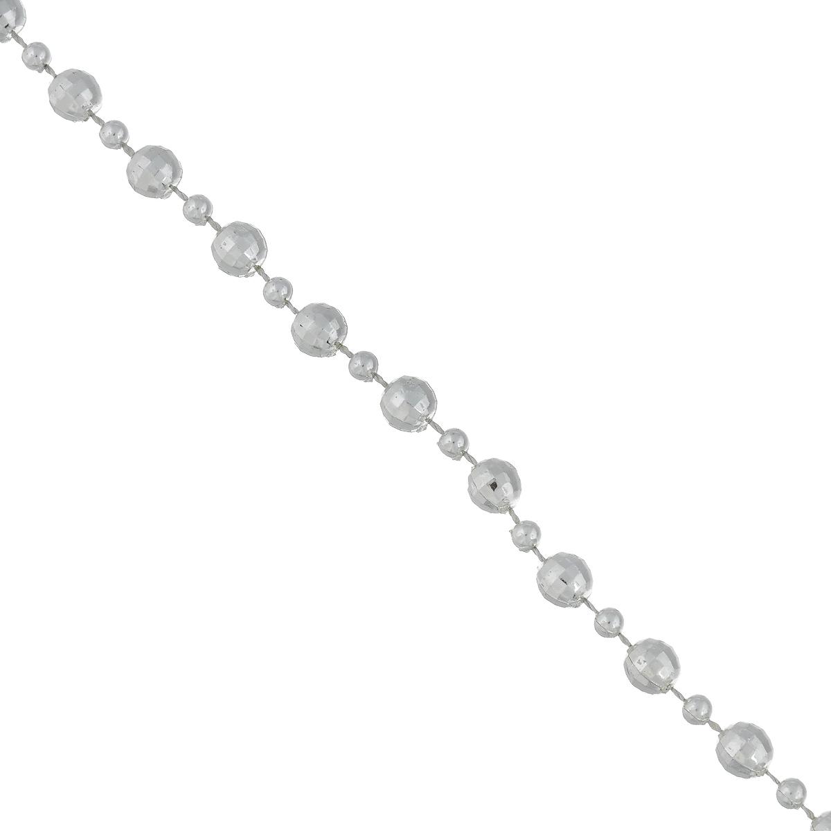 Новогодняя гирлянда Феникс-Презент Шарики, цвет: серебристый, длина 2,7 м гирлянда новогодняя феникс презент magic time цвет красный длина 2 7 м 38690