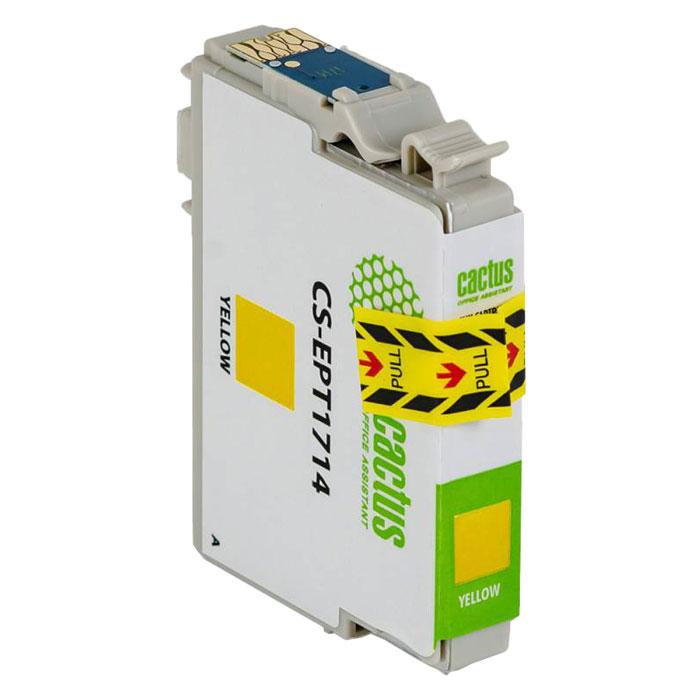 Картридж Cactus CS-EPT1714, желтый, для струйного принтера