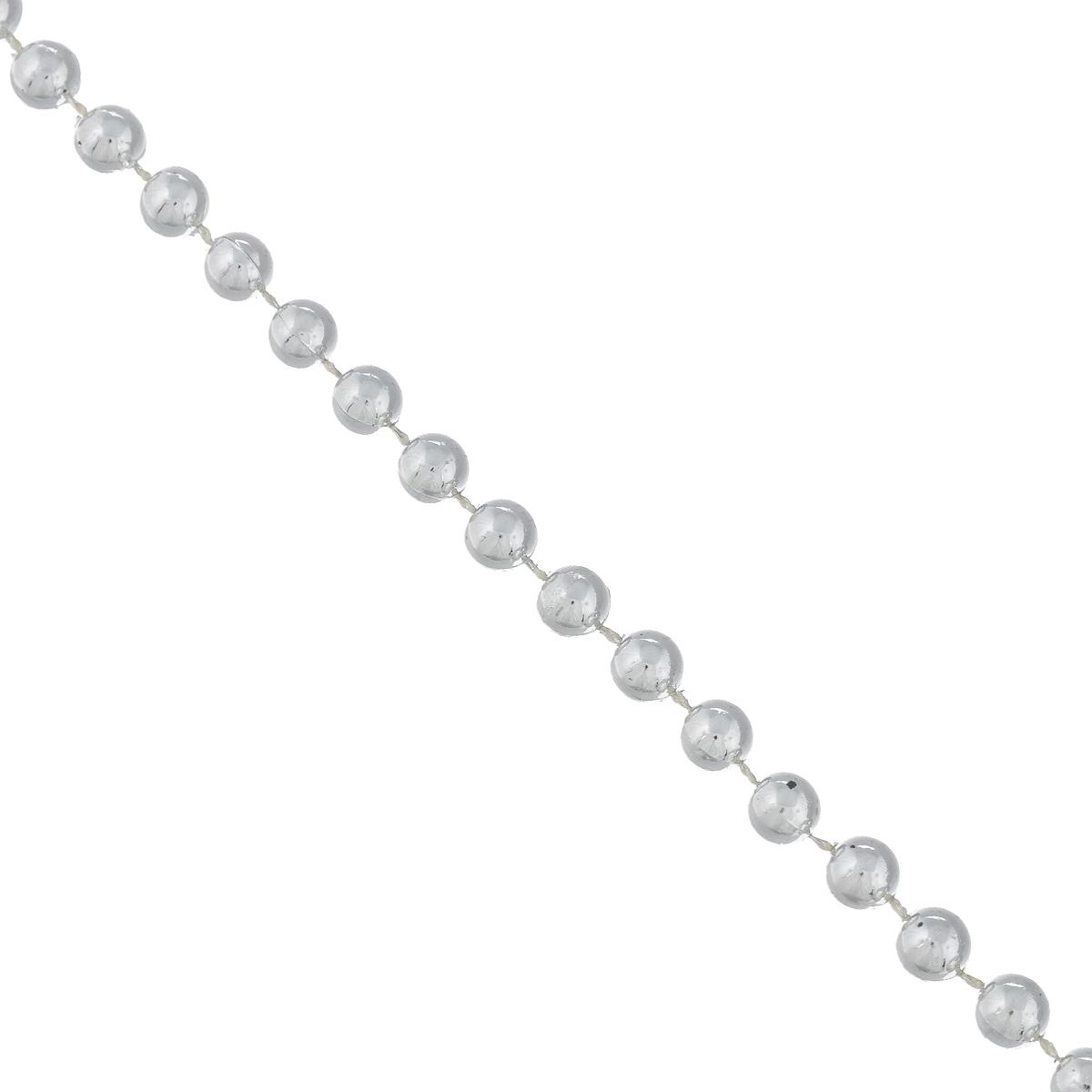 """Новогодняя гирлянда Феникс-презент """"Бусы с шариками"""", цвет: серебристый, длина 2,7 м"""