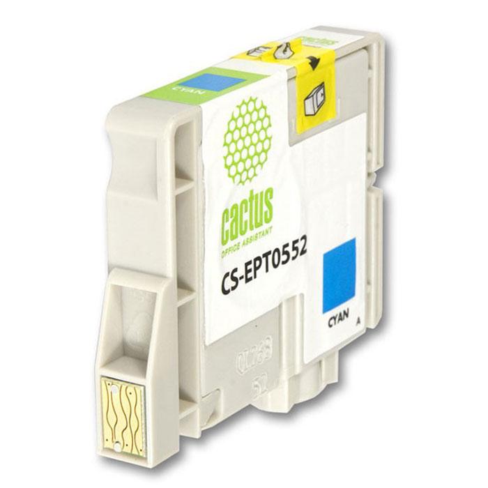 Cactus CS-EPT0552, Cyan струйный картридж для МФУ Epson Stylus Photo RX420/RX425 цена