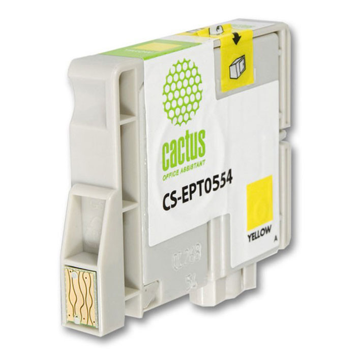 Cactus CS-EPT0554, Yellow струйный картридж для МФУ Epson Stylus Photo RX420/RX425 цена