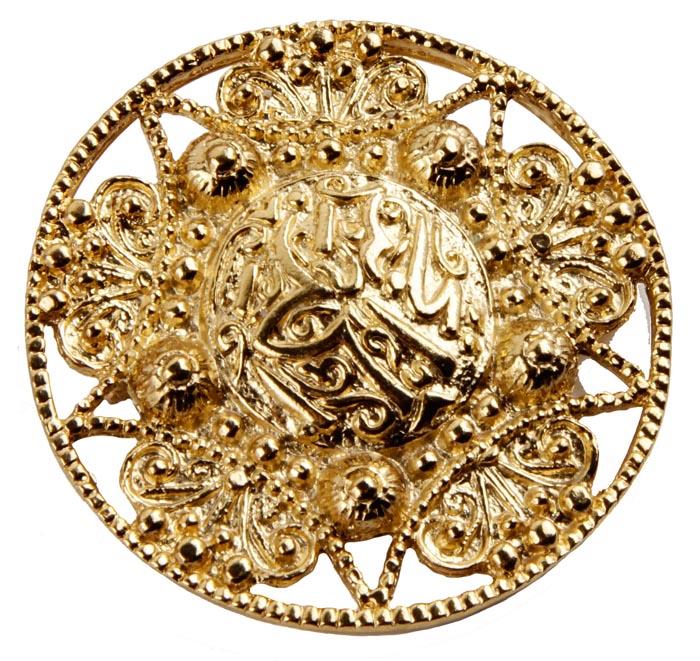 Винтажная брошь в арабском стиле от Butler & Wilson Золото Востока №4. Ювелирный сплав. Butler & Wilson, Великобритания, середина ХХ века брошь от butler