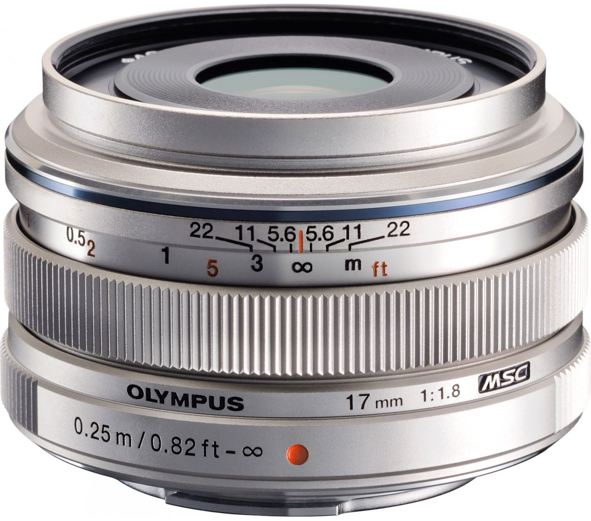 Объектив Olympus M.Zuiko Digital 17mm f/1.8, Silver цена и фото