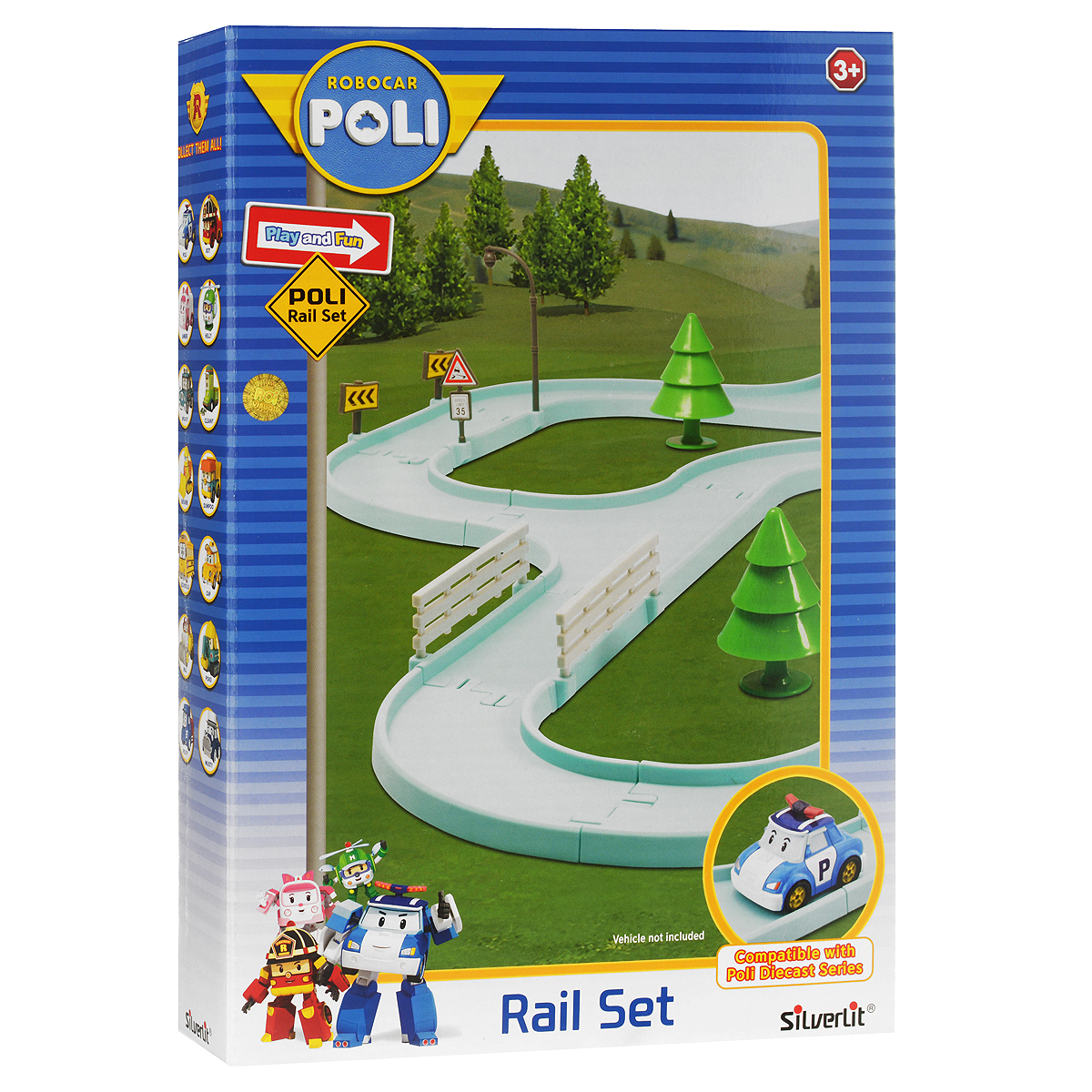 Robocar Poli Игровой набор Большой гоночный трек для металлических машинок