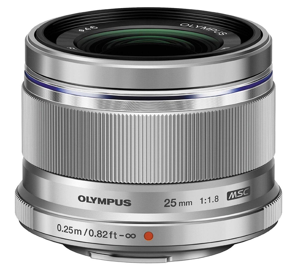 Объектив Olympus M.Zuiko Digital 25mm f/1.8, Silver