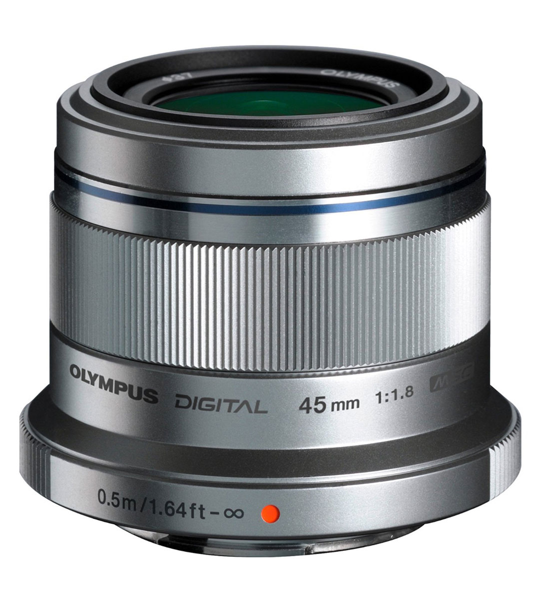 Olympus M.Zuiko Digital 45mm f/1.8, Silver объектив объектив olympus m zuiko ed 40 150 mm f 2 8 pro for micro four thirds