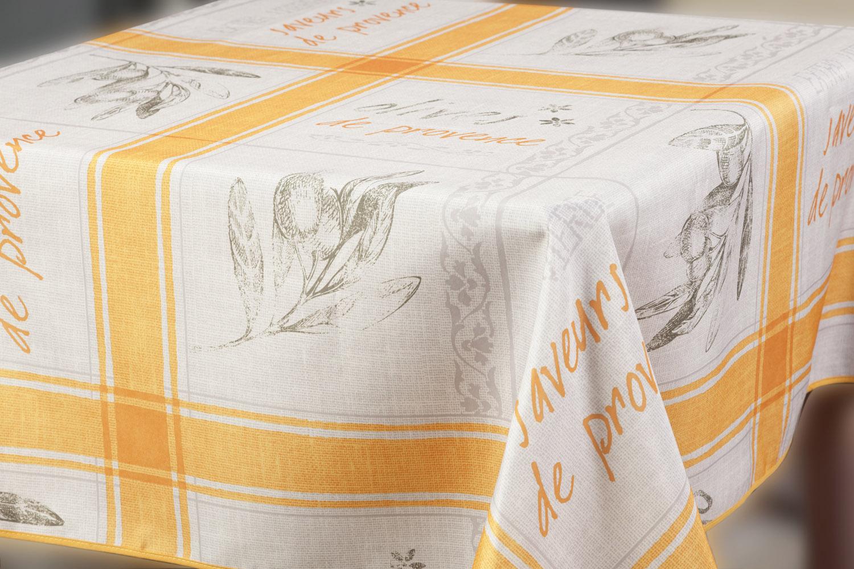 Скатерть Прованс, прямоугольная, цвет: оранжевый, 150 x 220 см