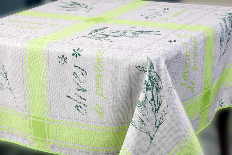 """Скатерть """"Прованс"""", прямоугольная, цвет: светло-зеленый, 150 x 220 см"""