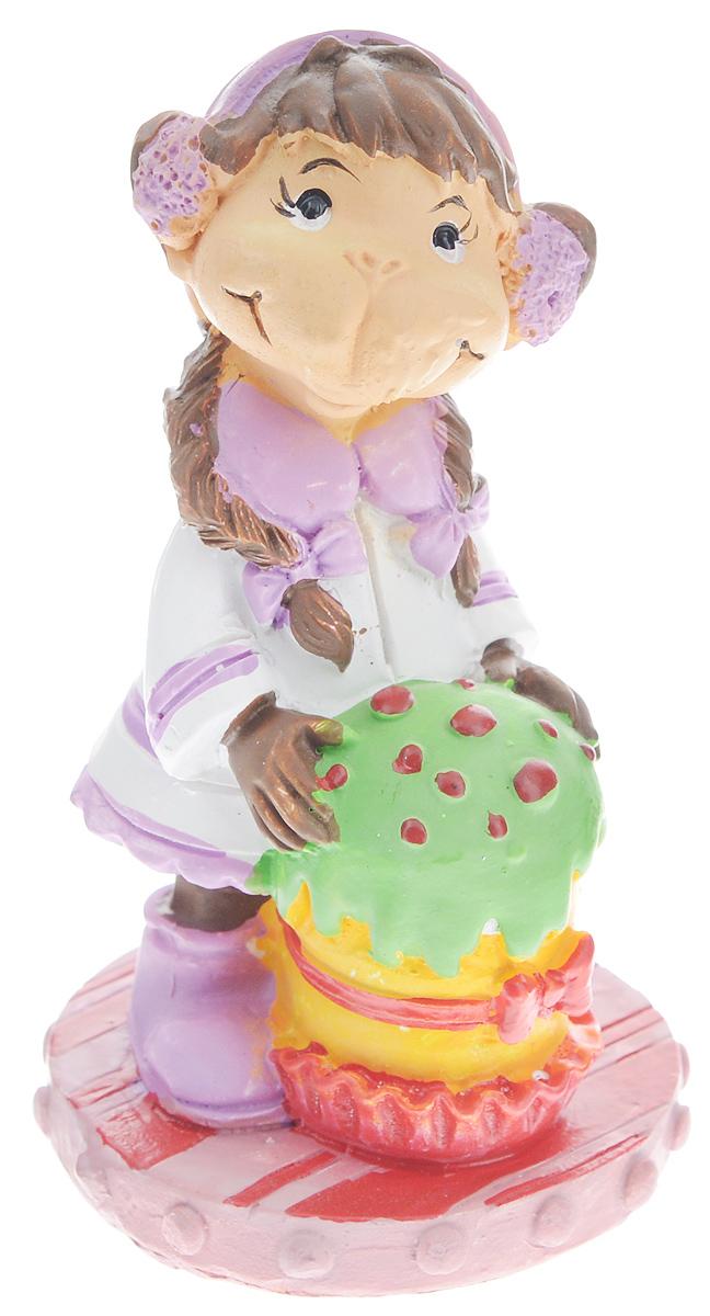 Фигурка декоративная Обезьянка с тортом, высота 7,6 см фигурка декоративная обезьянка с тортом высота 7 6 см