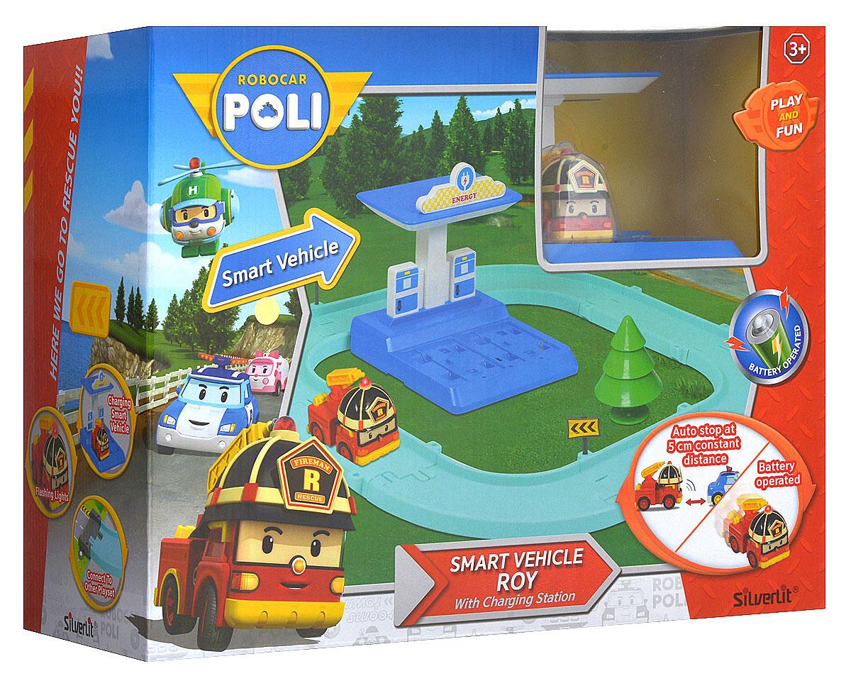 Игровой набор Robocar Poli Маленький трек с умной машинкой Рой robocar poli игровой набор перерабатывающая станция с фигуркой