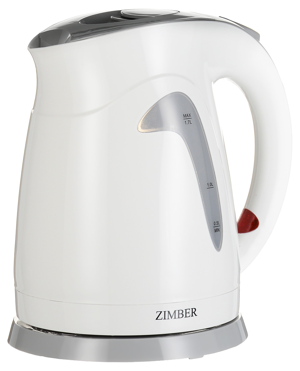 лучшая цена Zimber ZM-10669, White Grey электрический чайник