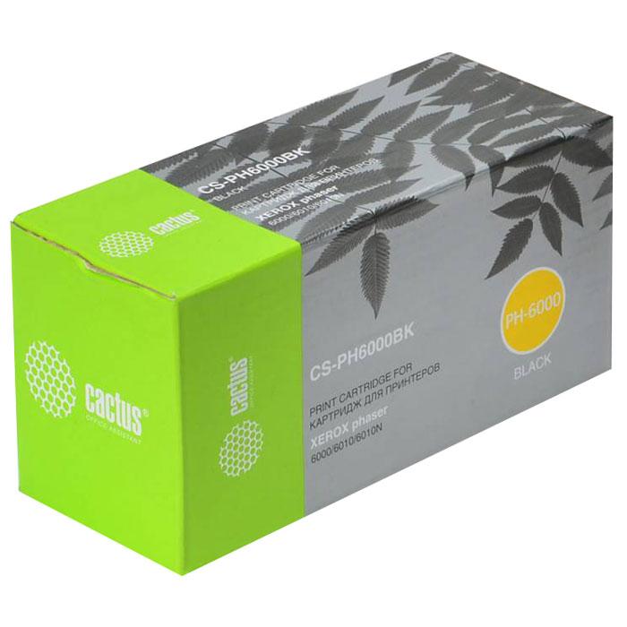 Cactus CS-PH6000BK, Black тонер-картридж для Xerox 6000/6010 (106R01634) цена
