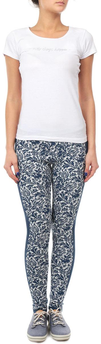Леггинсы Milana Style леггинсы женские milana style цвет синий белый 1105 размер 48