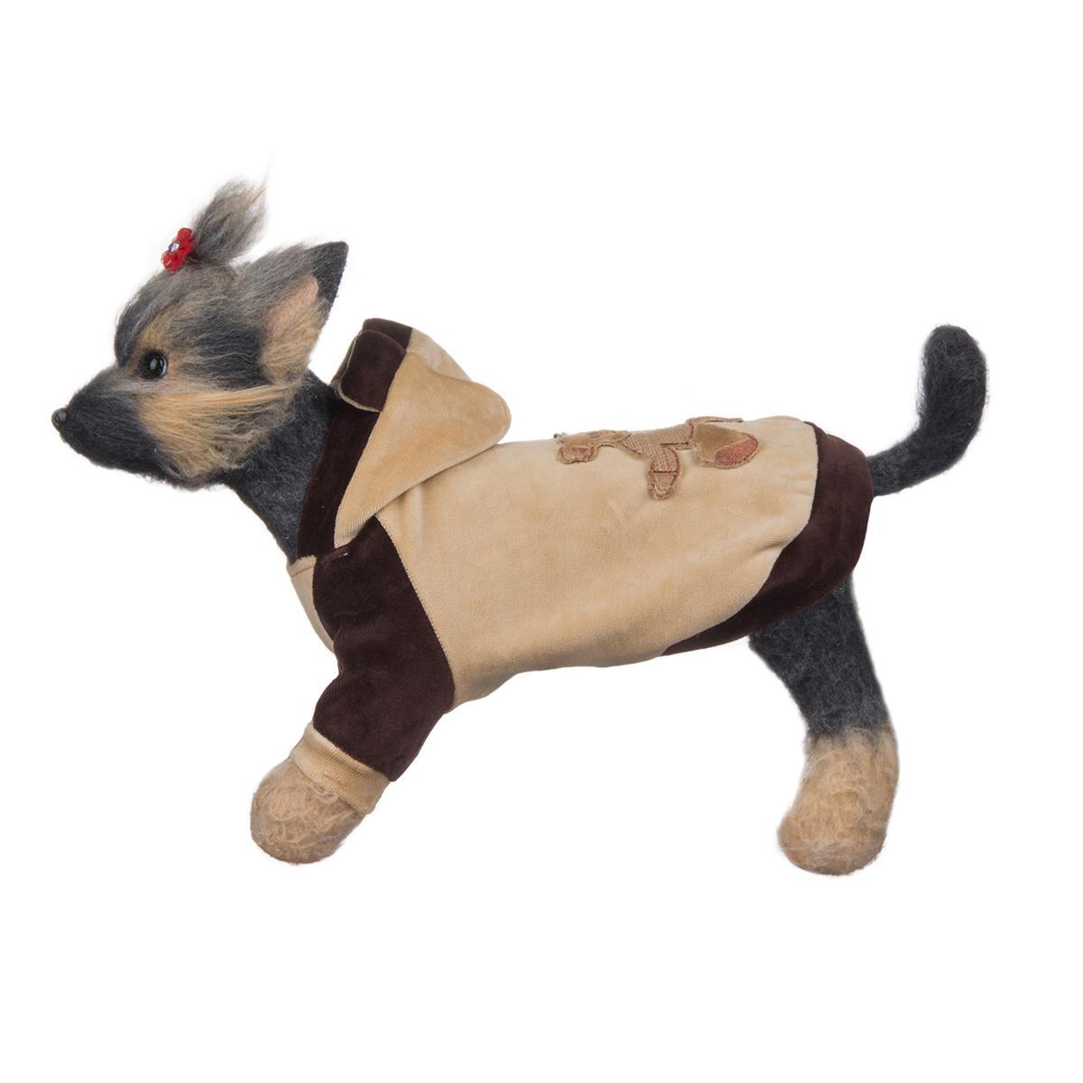 """Куртка для собак Dogmoda """"Мишка"""", унисекс, цвет: коричневый, бежевый. Размер 1 (S)"""