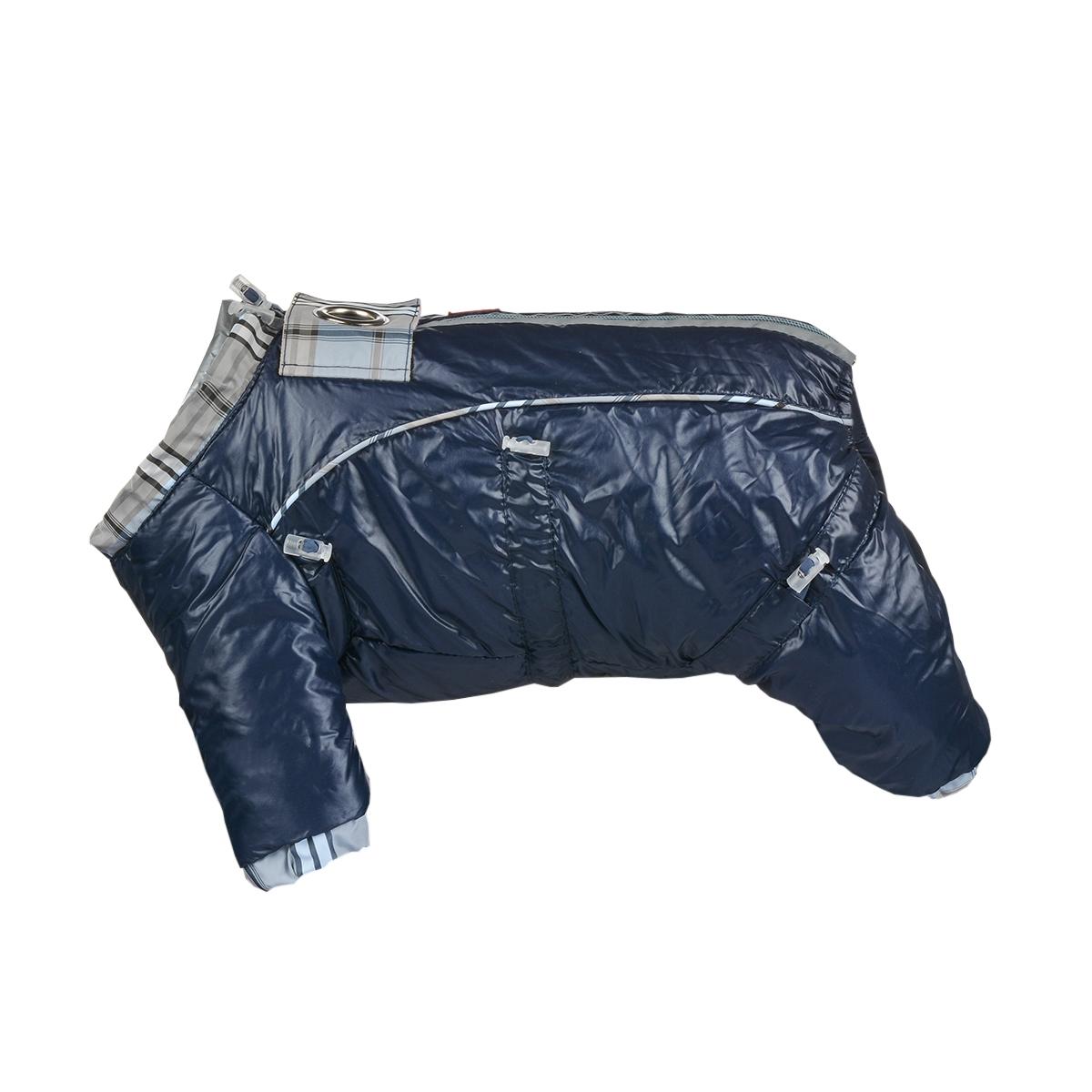 """Комбинезон для собак Dogmoda """"Doggs"""", зимний, для мальчика, цвет: темно-синий. Размер L"""