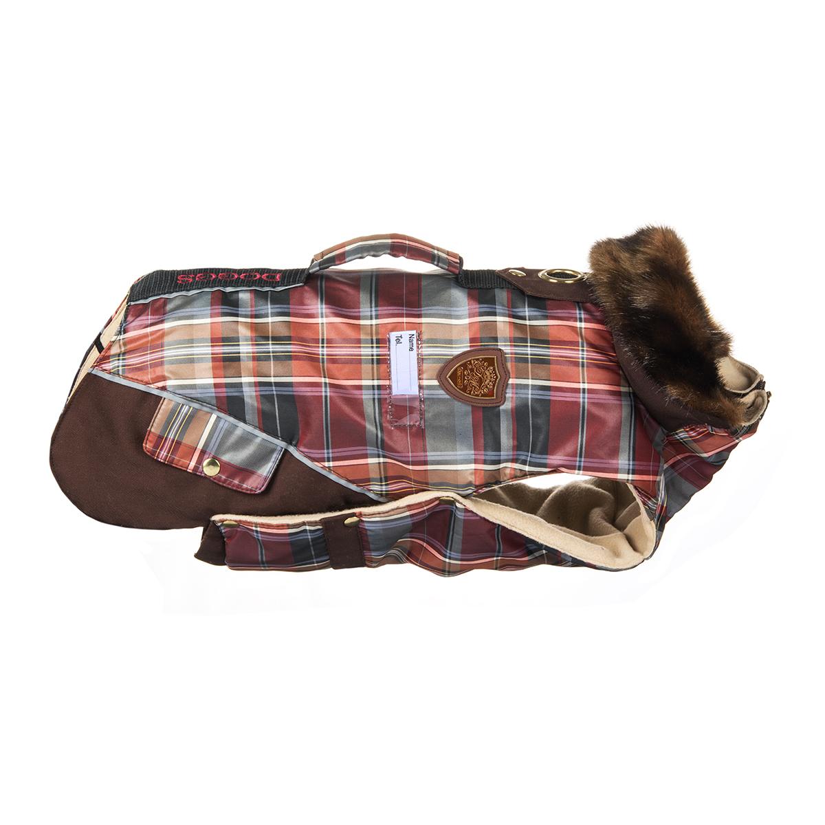 Попона для собак Dogmoda Doggs, девочки, цвет: бордовый, коричневый. Размер M