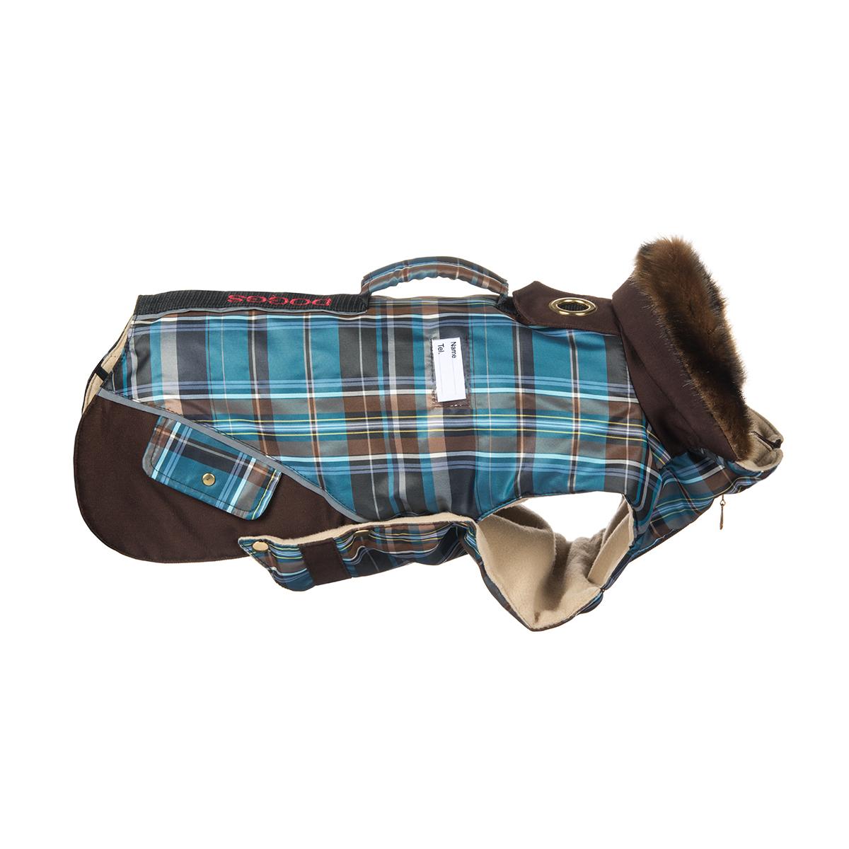 """Попона для собак Dogmoda """"Doggs"""", для мальчика, цвет: синий, коричневый. Размер L"""