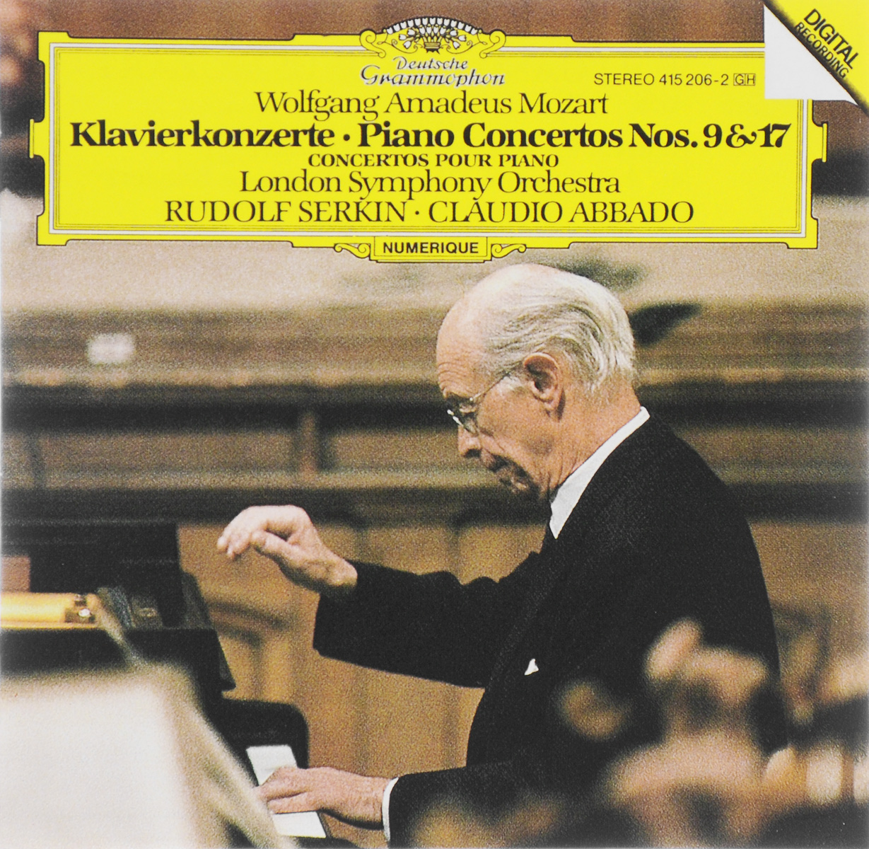 The London Symphony Orchestra,Рудольф Серкин,Клаудио Аббадо Rudolf Serkin, Claudio Abbado. Wolfgang Amadeus Mozart. Klavierkonzerte